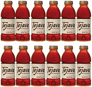 Tejava Original Unsweetened Black Iced Tea, 16.9 oz PET Bottles, Award Winning, Non-GMO-Verified, from Rainforest Alliance-Certified farms (12 Pack)
