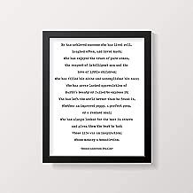 Arvier Bessie Anderson Stanley Success Quote Print Love Poem Inspirational Quote Art Motivational Wall Print Poem Print Framed Wall Art