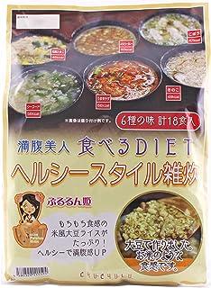 満腹美人 食べるバランスDIET ヘルシースタイル雑炊6種 18食セット PH-HLST-ZS-18