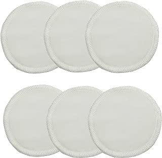 Floranea 6 Pcs Bamboo Makeup Remover Pads Round Reusable Round Facial Pads With Washing Laundry Bag