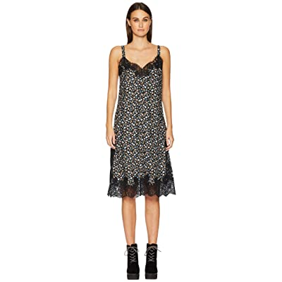 Rebecca Taylor Sleeveless Zelma Slip Dress (Black Combo) Women