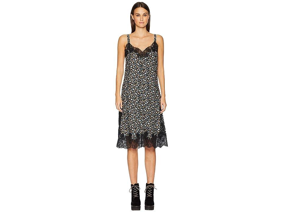 Rebecca Taylor Sleeveless Zelma Slip Dress (Black Combo) Women