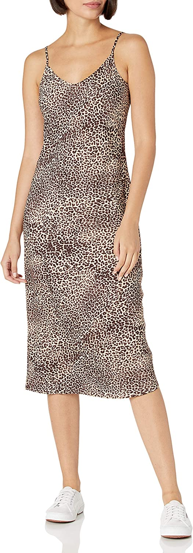 Amazon Brand - Daily Ritual Women's Georgette Fluid Drape Standard-Fit Slip Dress