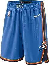 Nike Oklahoma City Thunder NBA Youth 8-20 Blue Dri-Fit Performance Icon Edition Swingman Shorts