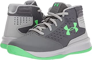 (アンダーアーマー) UNDER ARMOUR キッズバスケットボールシューズ?靴 UA BPS Jet 2017 Basketball (Little Kid) Graphite/Aluminum/Arena Green 3 Little Kid (22cm) M