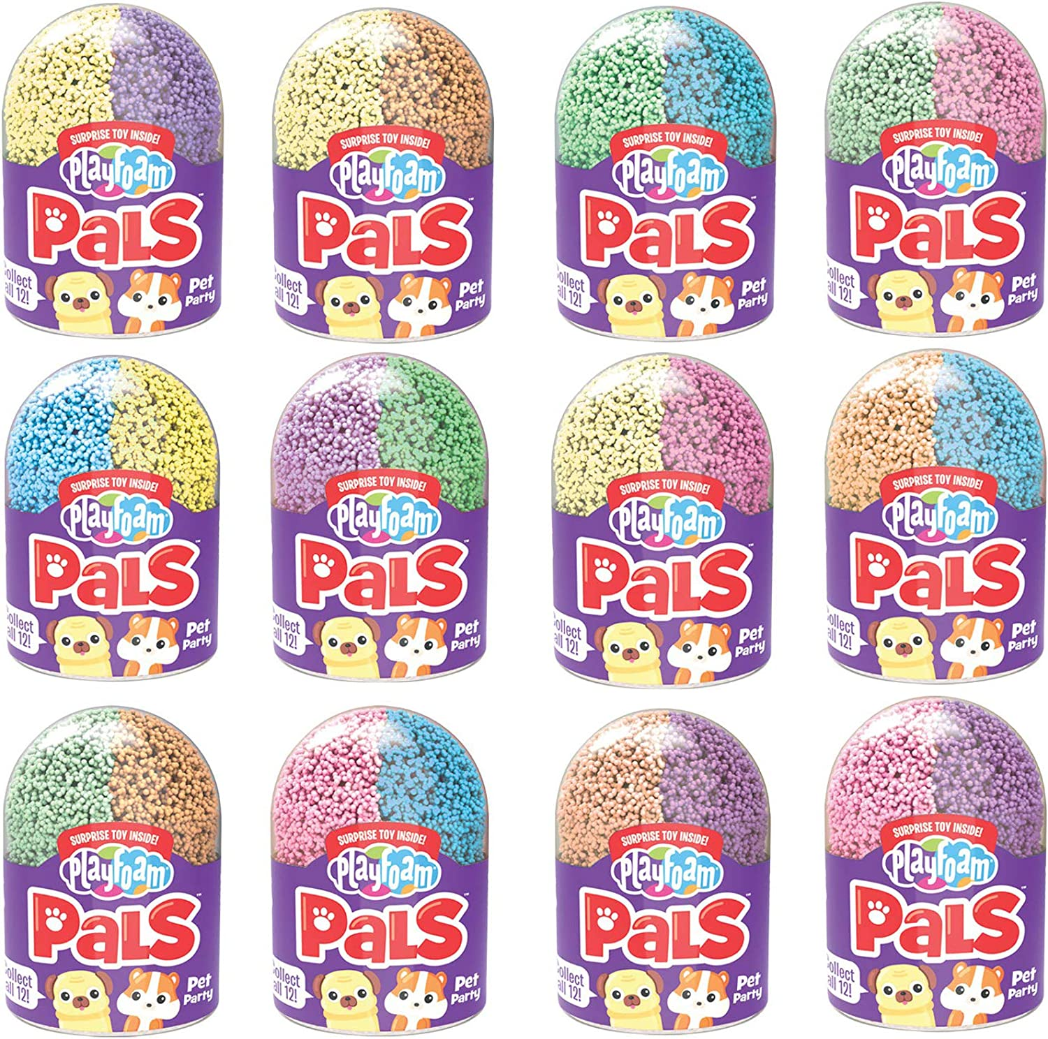 Never Dries Out Sensory Perfect for Ages 5+ Non-Toxic Shaping Fun Surprise Collectible Toy Arts /& Crafts For Kids Educational Insights Playfoam Pals Pet Party 2-Pack