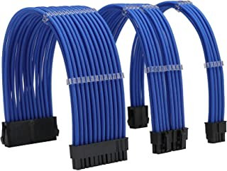 مجموعة كابل إمداد الطاقة من FormulaMod Sleeve Extension 18AWG ATX 24P+ EPS 8-P+PCI-E8-P مع أمشاط لجهاز PSU إلى اللوحة الأم...