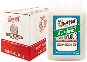 Bob's Red Mill Organic Unbleached White All-Purpose Flour 48 Oz. (Pack Of 4)