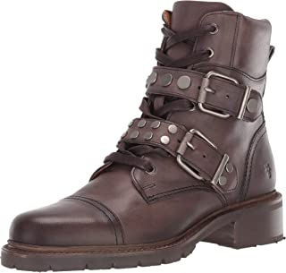 FRYE Women's Samatha Stud Hiker Hiking Boot, Grey, 7.5 M US