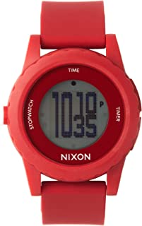 Nixon Men's A326-200 Alakazam! The Genie Red/Black Digital Plastic Watch