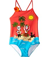 Dolce & Gabbana Kids - D&G Tropical One-Piece Swimsuit (Little Kids)