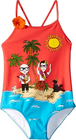 D&G Tropical One-Piece Swimsuit (Little Kids)