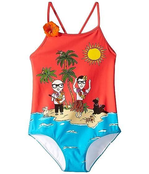 Dolce & Gabbana Kids D&G Tropical One-Piece Swimsuit (Little Kids)
