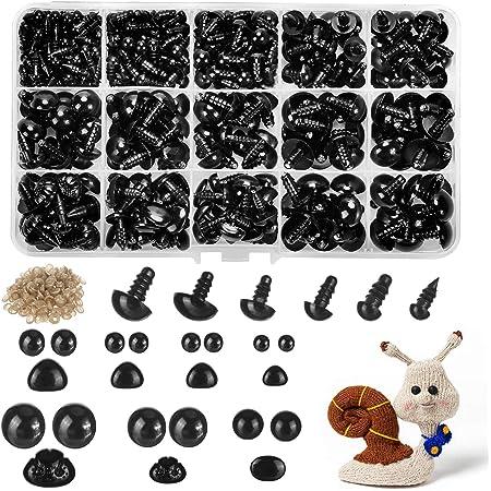 SUPVOX 100pcs Animal Craft Eyes Animal Brown Eyes Plug-in Style Glass Eye for Brown Teddy Doll Puppet Plush Animal Bear Making Scrapbooking 3-12mm