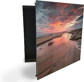 364519856 Armoire à clés avec façade en verre magnétique 30 x 30 cm
