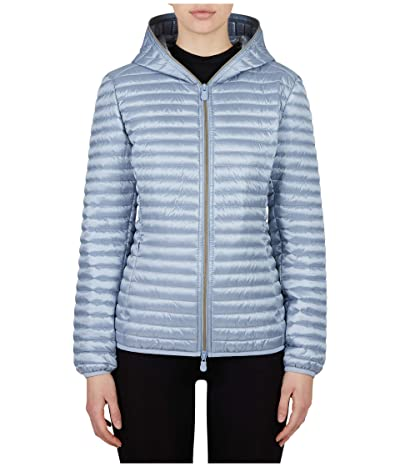 Save the Duck Iris Hooded Jacket (Dusty Blue) Women