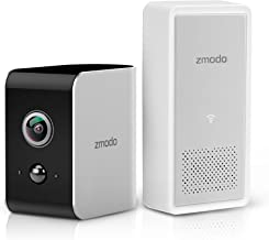 Zmodo Snap True Wire-Free Security Camera System, 180 Wide Angle, 1080p Full HD, Instant Motion Alert, Cloud Service Available