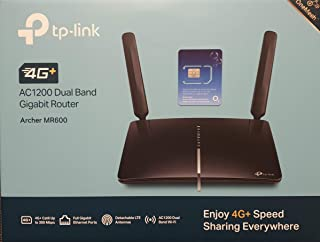 TP-Link Archer MR600 AC1200 Mbps 4G+ Cat6 Mobile Wi-Fi Router Dual Band, 4G/3G Network SIM Slot Unlocked, No Configuration...