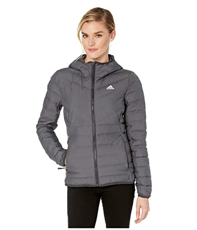 adidas Outdoor Varilite Soft 3-Stripe Hooded Jacket (Carbon) Women