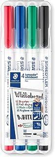 Staedtler 301 Lumocolor Dry Wipe/Whiteboard Pen – różne kolory, opakowanie 4 szt.