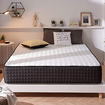 Naturalex | Titanium | Colchón Viscoelástico 150x190 Cm | Alta Gama 30 Cm Máximo Confort | Flexibilidad Duradera | Combinación Premium Látex Memory | ...