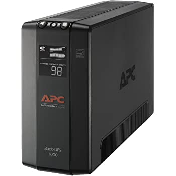 APC UPS, 1000VA UPS Battery Backup & Surge Protector, BX1000M Backup Battery, AVR, Dataline Protection and LCD Display, Back-UPS Pro Uninterruptible Power Supply