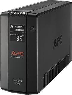 APC UPS, 1000VA UPS Battery Backup & Surge Protector, BX1000M Backup Battery, AVR, Dataline Protection and LCD Display, Back-UPS Pro Uninterruptible Power Supply