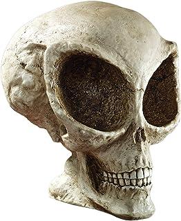 Design Toscano Extra-Terrestrial Alien Skull Decorative Statue, 7 Inch, Faux Bone Finish