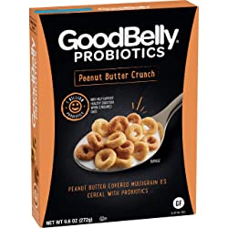 GoodBelly Probiotics Cereal, Peanut Butter Crunch, 9.6 oz