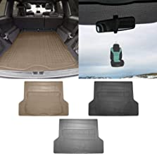 TLH Trimmable Cargo Mat Car Trunk Liner Universal Fit Beige Color w/Air Freshener