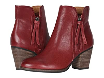 FRYE AND CO. Allister Zip Bootie (Cherry Tumbled Leather) Women