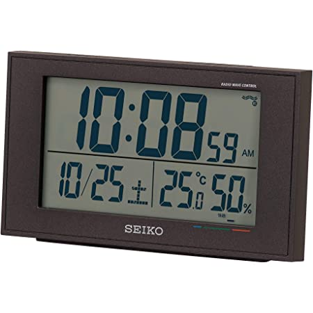セイコークロック 置き時計 02:黒 本体サイズ:8.5×14.8×5.3cm 電波 デジタル カレンダー 快適度 温度 湿度 表示 BC402K