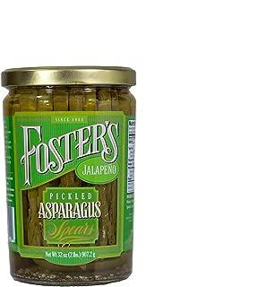 Foster's Pickled Asparagus Jalapeño, 32oz. (Pack of 3)