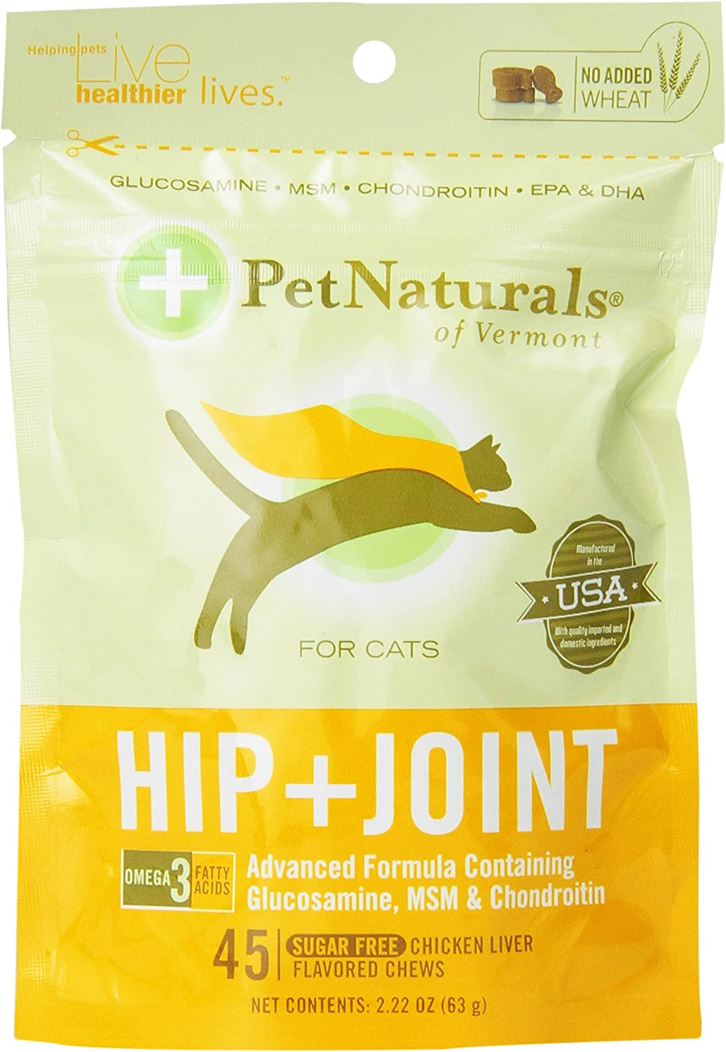 Pet Nat Hip and Joint for Cats, 45Count