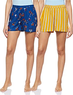 Longies Women's Regular Rayon Shorts (Pack of 2)