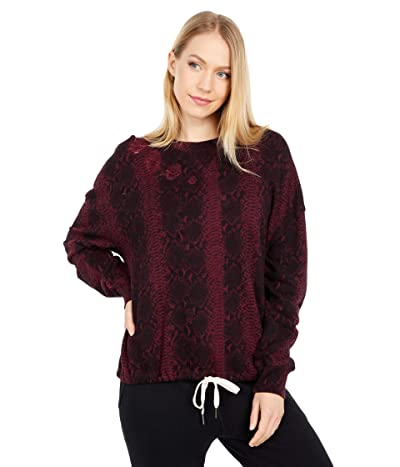 n:philanthropy Olympia Snakeprint Sweatshirt (Bordeaux Snake) Women