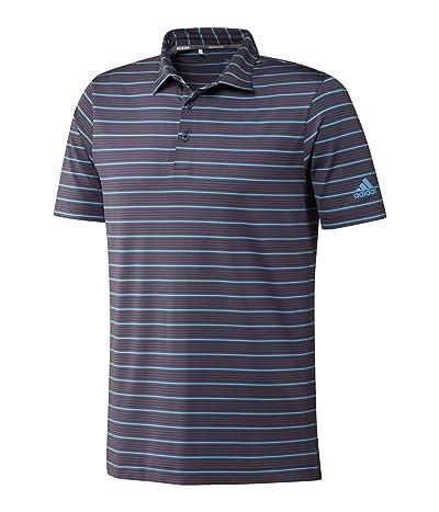 adidas Golf Ultimate365 Pencil Stripe Polo Shirt (Legacy Blue/Power Berry/Light Blue) Men