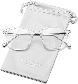 نظارات طبية مستديرة للنساء اطار نظارات غير طبية عدسات شفافة زجاجية للنساء والرجال