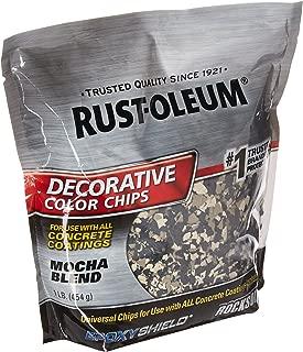 Rust-Oleum 301238 Mocha Blend, 1 lb. Bag Decorative Color Chips