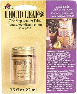 液体リーフペイント1ステップLeafingペイント、0.75-ounce、元 .75 oz. Liquid Leaf Paint