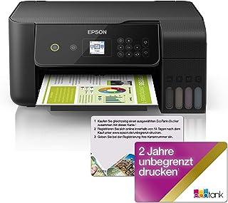 Epson EcoTank ET 2720 nachfüllbares 3 in 1 Tintenstrahl Multifunktionsgerät (Kopierer, Scanner, Drucker, DIN A4, WiFi, USB 2.0), großer Tintentank, hohe Reichweite, niedrige Seitenkosten, schwarz