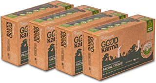 Origami Good Karma face tissue -100 pull- pack of 4 boxes