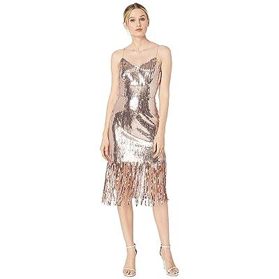 Laundry by Shelli Segal Metallic Cocktail Dress (Rose Gold) Women