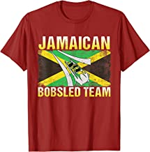 Jamaican Bobsled Team T Shirt / Jamaica Flag  T-Shirt
