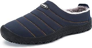 Mishansha Zapatillas de Estar para Casa Invierno Zapatillas de Deporte Hombre Mujer con Suela Antideslizante