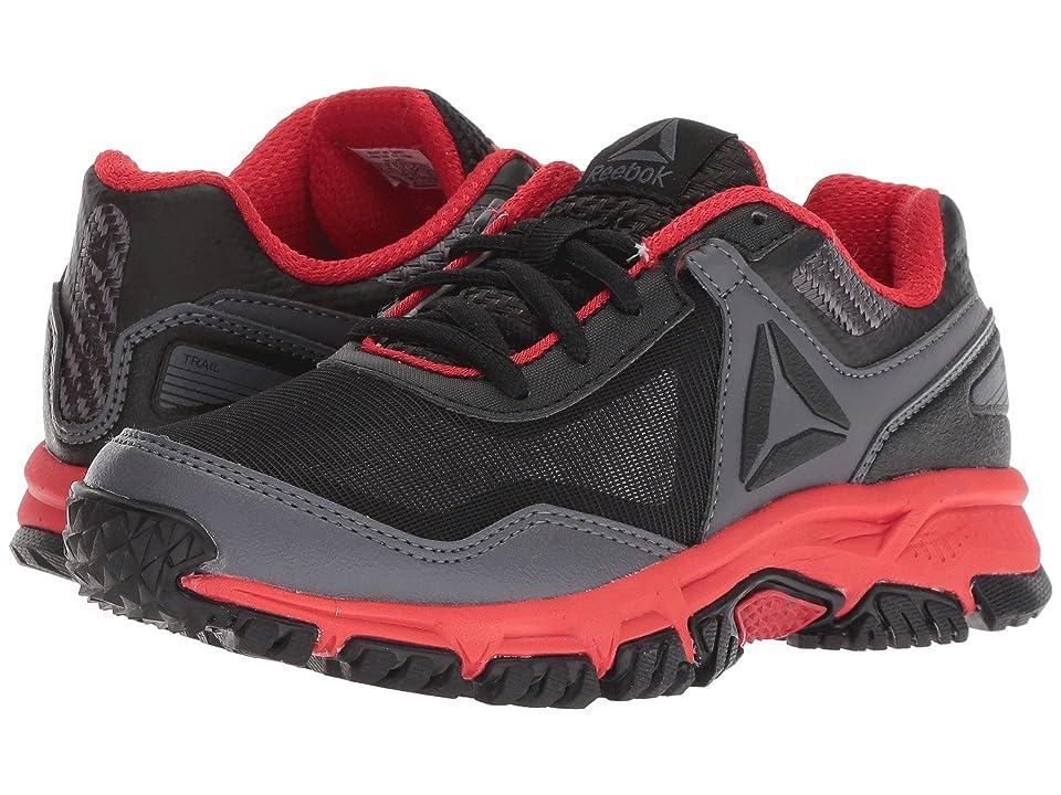 Reebok Kids Ridgerider Trail 3.0 (Little Kid/Big Kid) (Black/Grey/Red) Boys Shoes