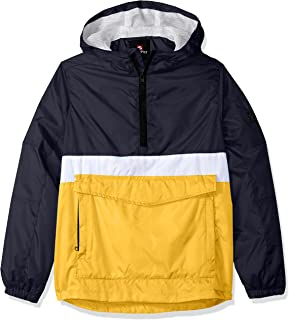 3731b3da4 Southpole Boys' Big Anorak Colorblock Water Resistance Hooded Pullover