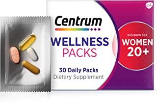 Centrum Wellness Packs Daily Vitamins for Women in Their 20s, Women's Vitamins with Complete...