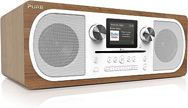 Pure Evoke C-F6 All-in-One Stereo DAB/DAB+/FM Digital Radio and Internet Radio – Internet/DAB Radio with CD Player, Blueto...