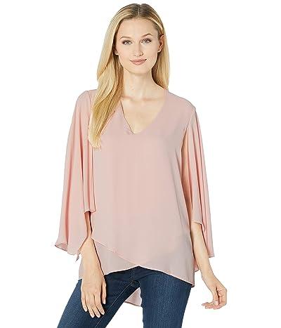 Karen Kane Angel Sleeve Crossover Top (Light Pink) Women